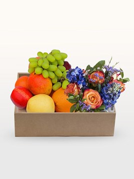 Snack & Gift Hampers: Fruit & Flower Box