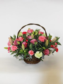 Arrangements: Pink Basket