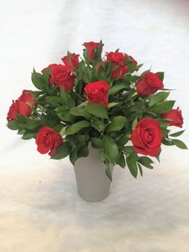 Arrangements: Red Rose Pot