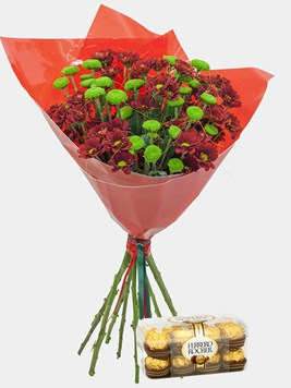 Bouquets: Crysanth Happiness with Ferrero Rocher