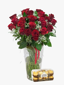 Arrangements:  Red Rose & Million Stars with Ferrero Rocher