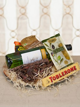 Snack & Gift Hampers: White Wine and Biltong Platter