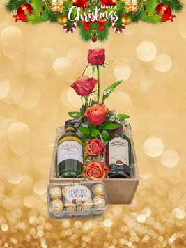 Snack & Gift Hampers: Flowers, Wine and Chocolate