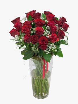 TFG:  Red Rose & Million Stars Vase Arrangement